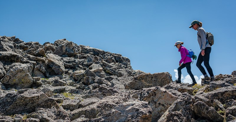 Hikers on a ridge line- photo by Daniel Lay